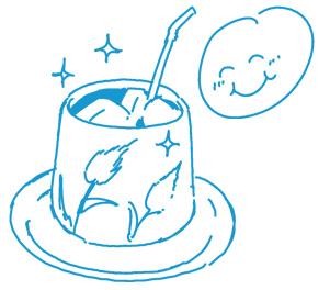 アイスコーヒーの淹れ方イラスト3